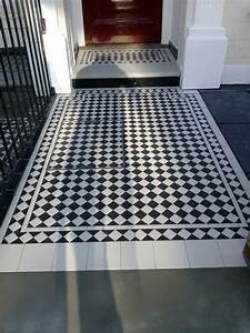 Black and White Victorian Mosaic Tile Path London | London ...