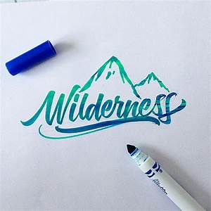 crayola brushpen lettering set on behance brush pen With crayola markers for hand lettering