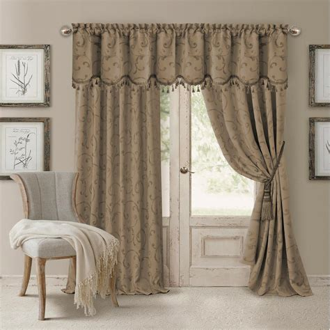 Draped Curtains - elrene blackout taupe blackout energy efficient room