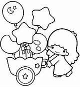 Twin Stars Twins Coloring Sanrio Colouring Dibujos Printable ภาพ Getdrawings Kikilala Template Getcolorings Printables ชม เข sketch template