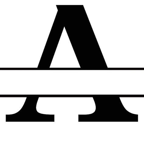 split letter az monogram  cricut etsy