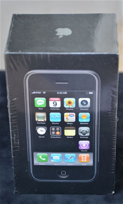 1st gen iphone sealed first gen iphone hits ebay for 10 000 geek com 1st g