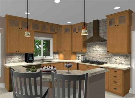l shaped kitchen with island layout inspiring kitchen island shapes design ideas home 9665