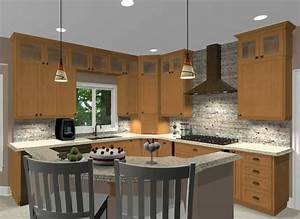 inspiring kitchen island shapes design ideas home With l shaped kitchen designs with island