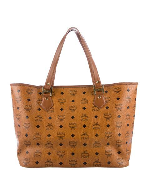 mcm visetos shopper tote handbags w3020932 the realreal