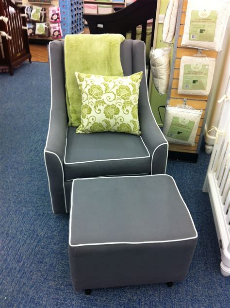 Savvy Upholstered Glider And Ottoman By Castle by Rocker Glider The Bump