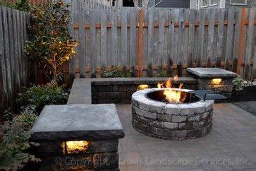backyard patio  fire pit bar patio seat wall