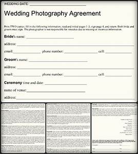 5 sample wedding photography contract templates word pdf With wedding photography contract pdf