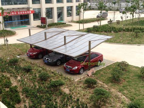Multiple Car Metal Carports For Many Cars At Car Park