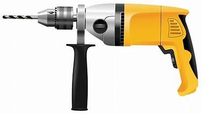 Drill Clip Clipart Transparent Hammer Cartoon Tools