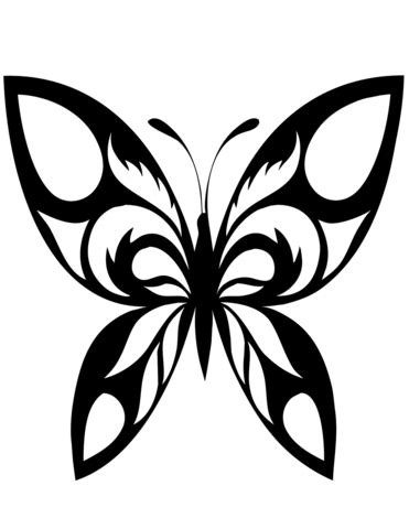 butterfly tattoo coloring page  printable coloring pages