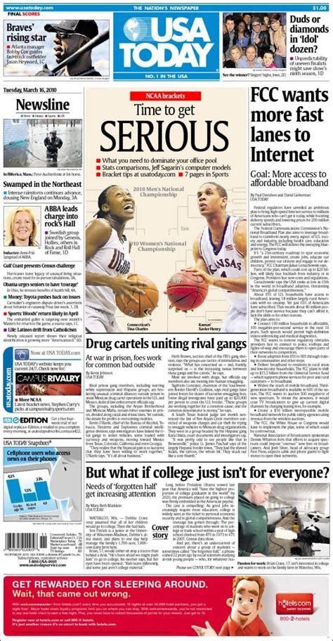 Newspaper USA Today (USA). Newspapers in USA. Tuesday's ...