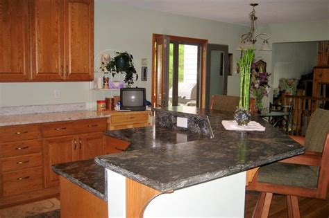 Two Tier Kitchen Islands With Seating  Two Tier Kitchen