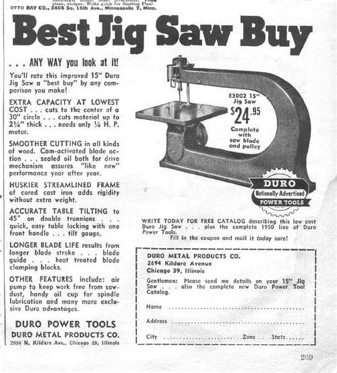 duro metal products   ad   jig
