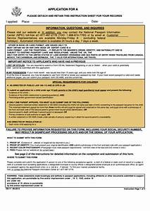 form ds 11 application form for a us passport With passport documents ds 11