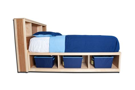 Bookcase Headboard With Drawers by Made Bookcase Headboard With Storage Drawers By