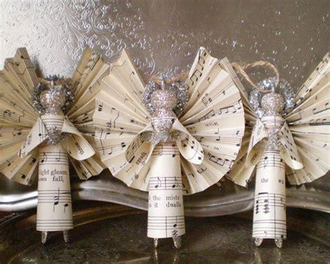10 beautiful sheet music christmas ornaments you can make yourself