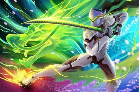 141 Genji (overwatch) Hd Wallpapers