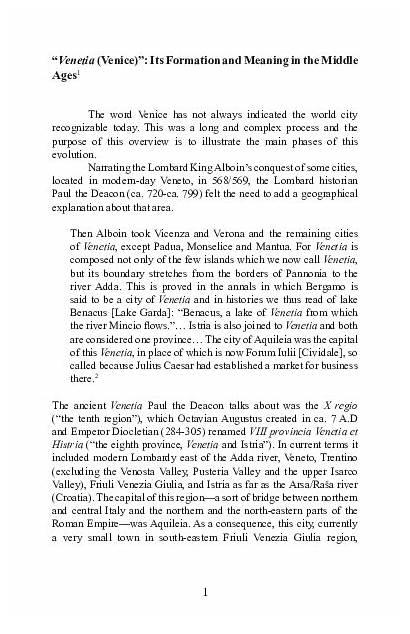 Venice Ages Middle Venetia Nemla Perspectives Formation