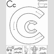 Alphabet Letter C Worksheet  Preschool Printable Activity  Traditional Block Manuscript
