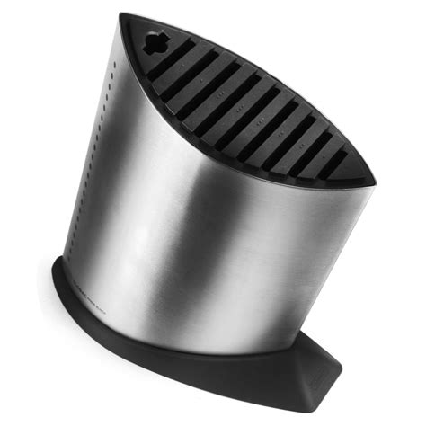 global stainless steel knife block set  piece cutlery