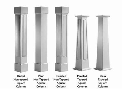 Columns Craftsman Square Column Porch Wraps Pvc