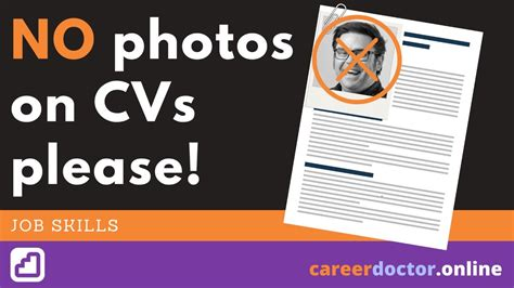 Photo In Resume Or Not by 3 Reasons Why Not To Include A Photo On Your Cv Or Resume