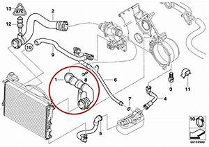 Genuine Bmw E39 540i E38 740i 740il Upper Radiator Hose