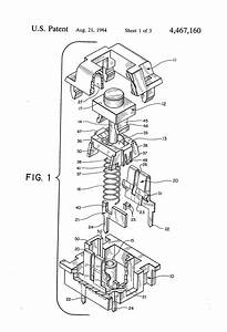Patent Us4467160 - Low Profile Switch