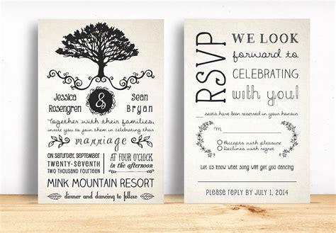 rustic wedding invitation template  images