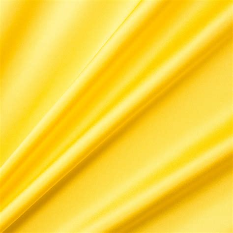 Bright Yellow Silk Satin | Joel & Son Fabrics