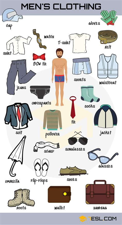clothes vocabulary learn clothes   pictures