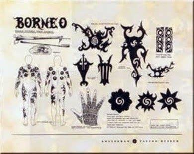 arti  makna gambar tato suku dayak kalimantan coretan