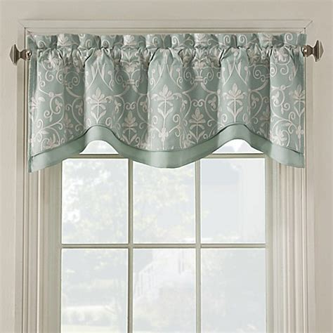 gray and teal curtains salisbury embroidered valance bedbathandbeyond com