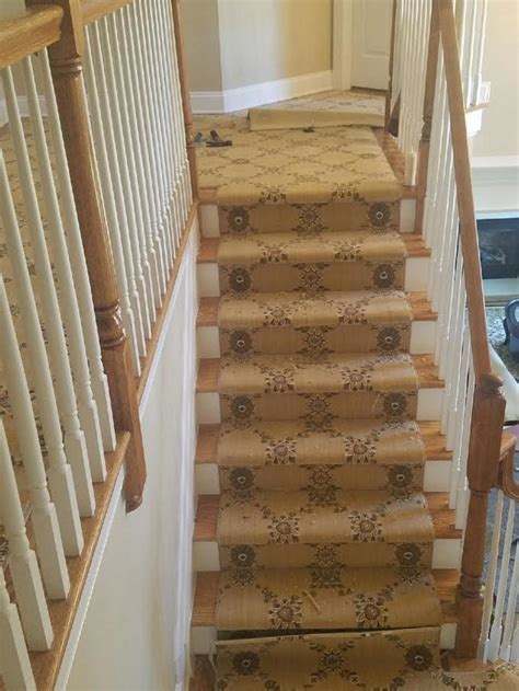 patterned carpet  staircase traditional  hall stair