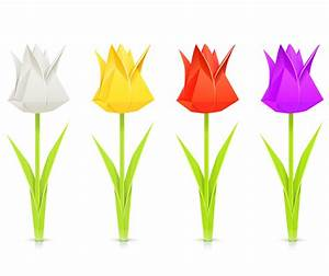 Origami: Diy Origami Instructions Tulip And Stem By The