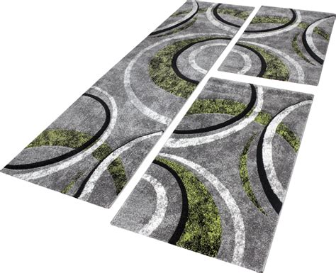 ensemble de tapis ligne  vert tapis