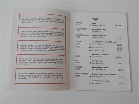 ferrari dealership inside 1969 ferrari dealer directory classic ferrari parts