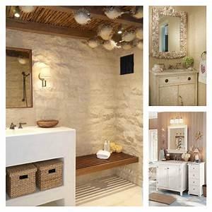 Salle De Bain Blanche Et Bois : salle de bain d coration m diterran enne et bord de mer ~ Preciouscoupons.com Idées de Décoration