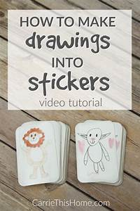 how to make drawings into stickers easy video tutorial With get labels made