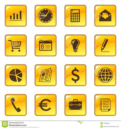 business icons  web buttons royalty  stock
