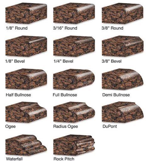 countertop edge types 39 best edge profiles images on kitchen ideas