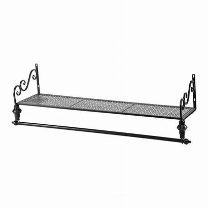 Rail Wall Mounted Clothes Shelf Hanging Rack