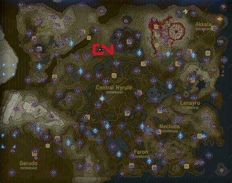 zelda map  shrine locations