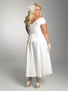 plus size short lace white wedding dress sang maestro With plus size white dresses for wedding