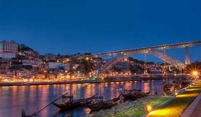 Portugal Porto Bridge Night Wallpapers Luis Dom