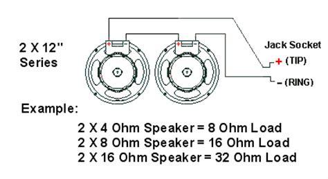 Impedance Speaker Cabinet Wiring Guitars