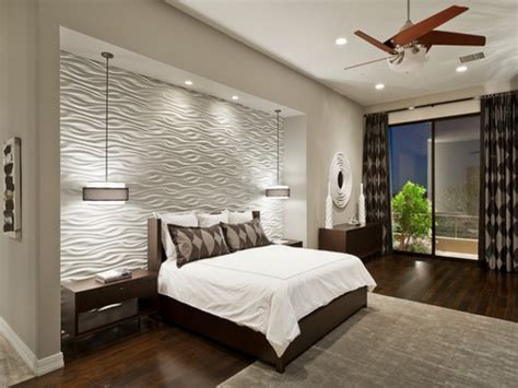 Contemporary ceiling fans with lights, wood accent wall