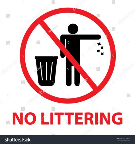 Royalty-free No Littering Sign #201794024 Stock Photo