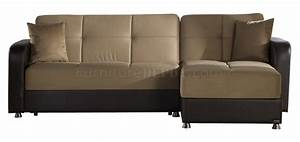Vision rainbow dark beige sectional sofa by sunset w options for Dark beige sectional sofa